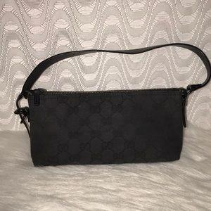 Gucci Black Mini Bag Canvas/Leather